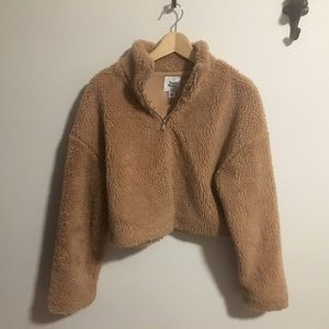 Tiger Mist cropped teddy sweater
